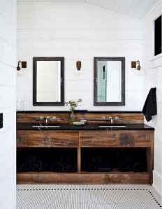 50 Stunning Farmhouse Bathroom Vanity Decor Ideas (18)