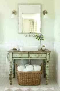 50 Stunning Farmhouse Bathroom Vanity Decor Ideas (24)