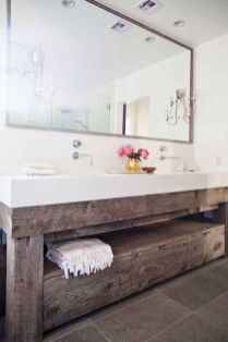 50 Stunning Farmhouse Bathroom Vanity Decor Ideas (25)