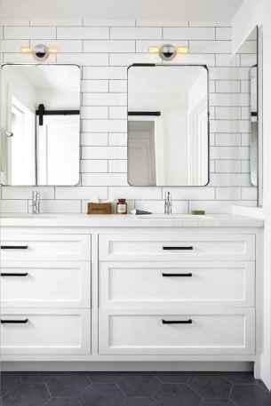 50 Stunning Farmhouse Bathroom Vanity Decor Ideas (44)