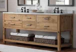50 Stunning Farmhouse Bathroom Vanity Decor Ideas (63)