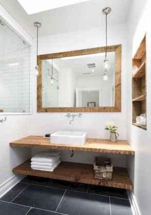 50 Stunning Farmhouse Bathroom Vanity Decor Ideas (78)