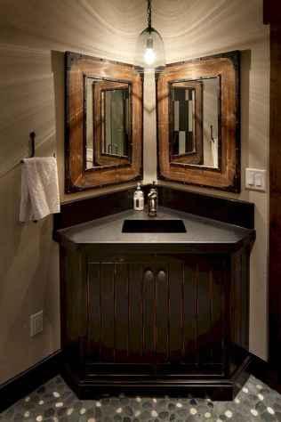 50 Stunning Farmhouse Bathroom Vanity Decor Ideas (90)