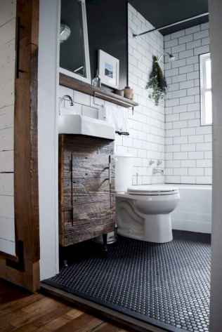 50 Stunning Farmhouse Bathroom Vanity Decor Ideas (91)