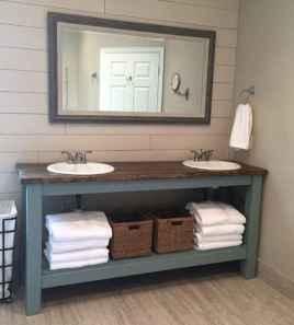 50 Stunning Farmhouse Bathroom Vanity Decor Ideas (97)