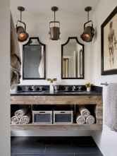 90 Awesome Lamp For Farmhouse Bathroom Lighting Ideas (29)
