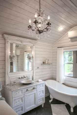 90 Awesome Lamp For Farmhouse Bathroom Lighting Ideas (65)