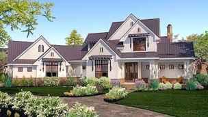 90 Awesome Modern Farmhouse Exterior Design Ideas (80)