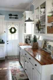 90 Best Farmhouse Kitchen Cabinet Design Ideas (118)
