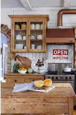90 Best Farmhouse Kitchen Cabinet Design Ideas (178)