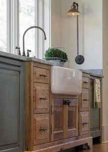 90 Best Farmhouse Kitchen Cabinet Design Ideas (185)