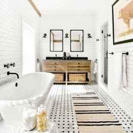 110 Fabulous Farmhouse Bathroom Decor Ideas (59)
