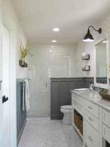 110 Fabulous Farmhouse Bathroom Decor Ideas (84)
