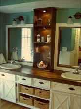 50 Amazing Farmhouse Bathroom Vanity Decor Ideas (100)