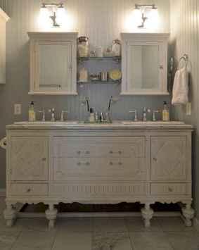 50 Amazing Farmhouse Bathroom Vanity Decor Ideas (104)