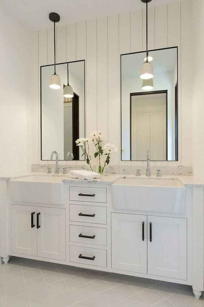 50 Amazing Farmhouse Bathroom Vanity Decor Ideas (112)