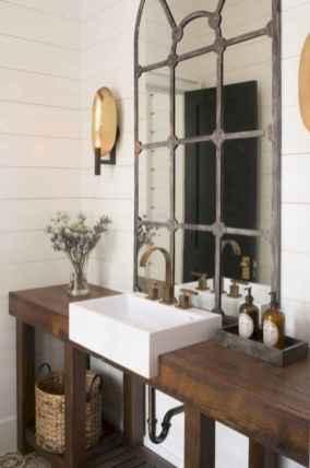 50 Amazing Farmhouse Bathroom Vanity Decor Ideas (116)
