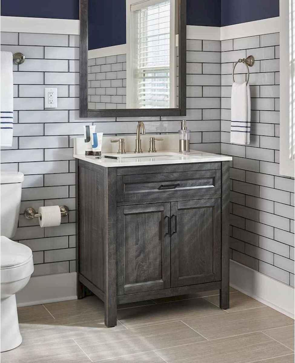 50 Amazing Farmhouse Bathroom Vanity Decor Ideas (117)