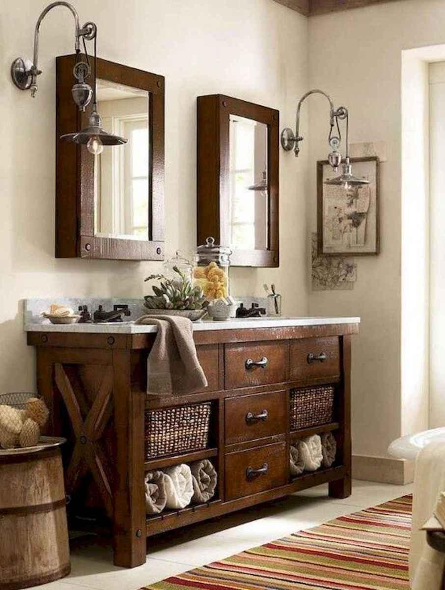 50 Amazing Farmhouse Bathroom Vanity Decor Ideas (15)