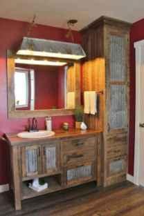 50 Amazing Farmhouse Bathroom Vanity Decor Ideas (26)