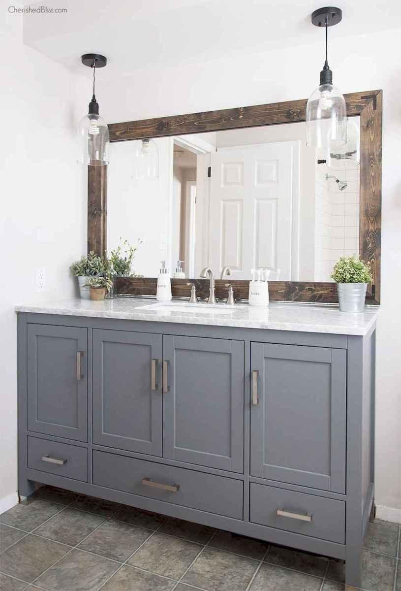 50 Amazing Farmhouse Bathroom Vanity Decor Ideas (27)