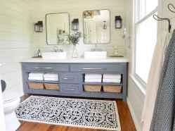 50 Amazing Farmhouse Bathroom Vanity Decor Ideas (28)