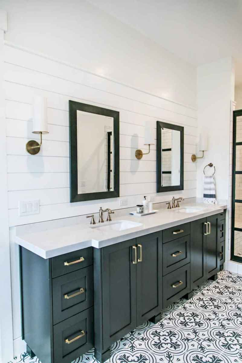 50 Amazing Farmhouse Bathroom Vanity Decor Ideas (42)