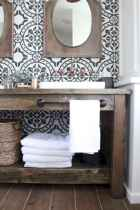 50 Amazing Farmhouse Bathroom Vanity Decor Ideas (46)
