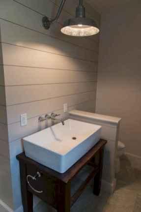 50 Amazing Farmhouse Bathroom Vanity Decor Ideas (58)