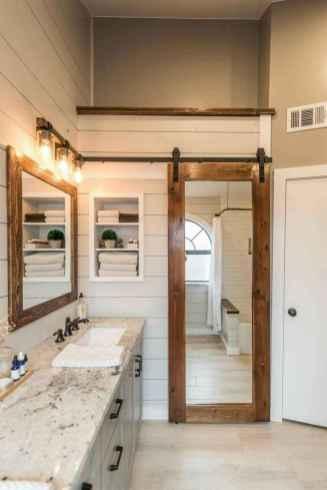 50 Amazing Farmhouse Bathroom Vanity Decor Ideas (65)