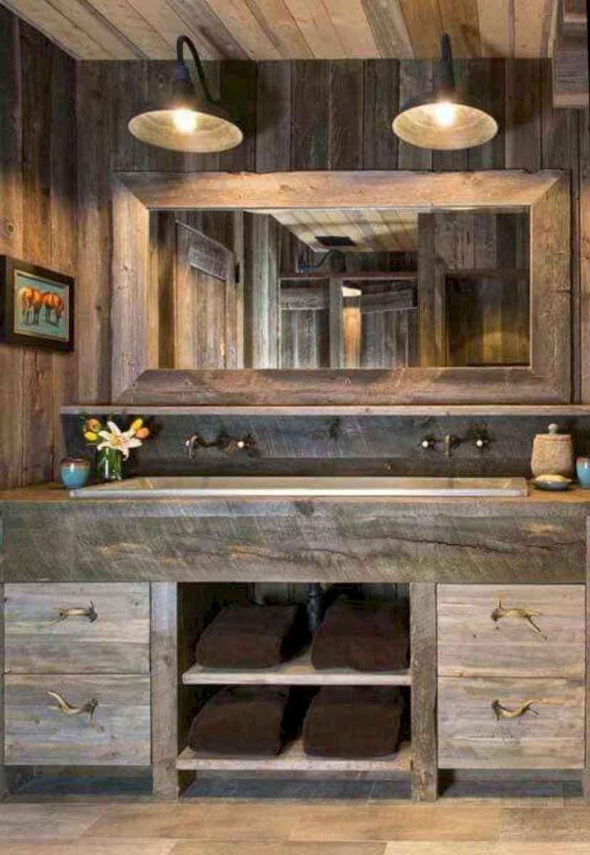 50 Amazing Farmhouse Bathroom Vanity Decor Ideas (70)