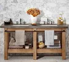 50 Amazing Farmhouse Bathroom Vanity Decor Ideas (76)