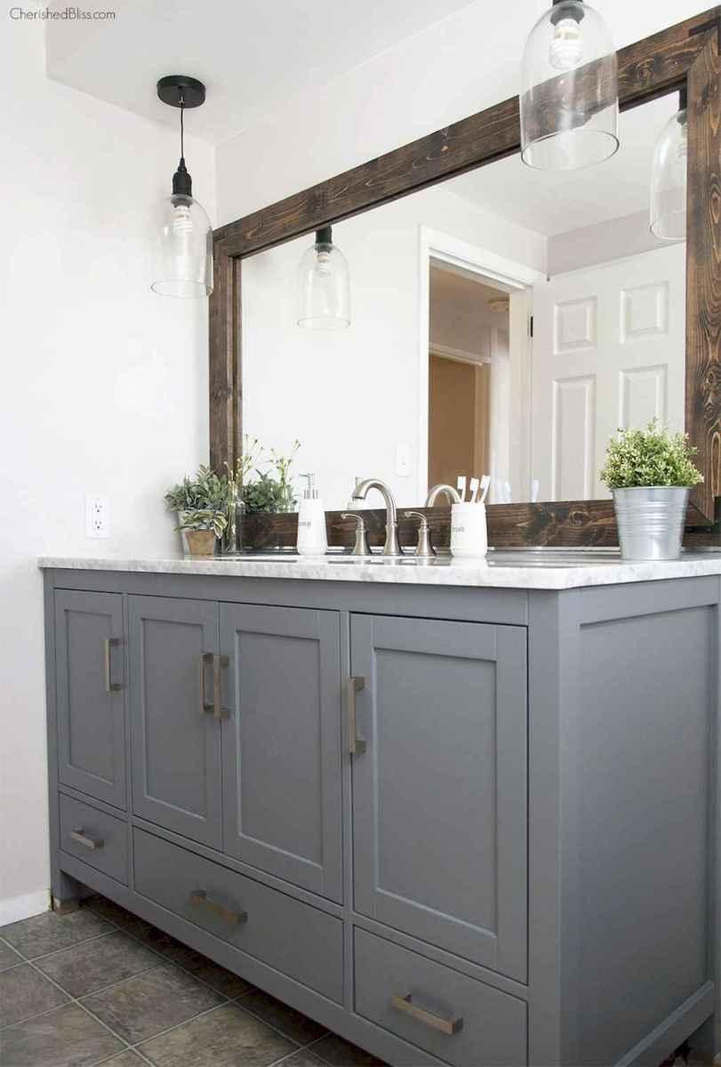 50 Amazing Farmhouse Bathroom Vanity Decor Ideas (83)