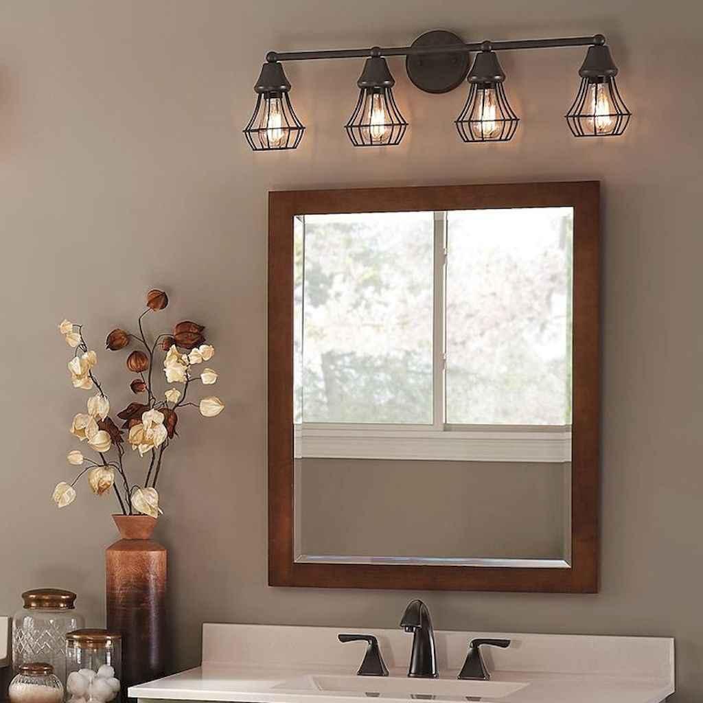 50 Amazing Farmhouse Bathroom Vanity Decor Ideas (85)