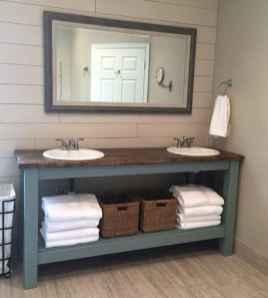 50 Amazing Farmhouse Bathroom Vanity Decor Ideas (97)
