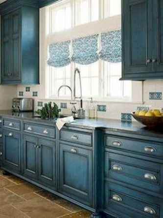 70 Pretty Farmhouse Kitchen Curtains Decor Ideas (25)