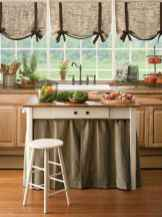 70 Pretty Farmhouse Kitchen Curtains Decor Ideas (42)