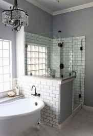 80 Cool Farmhouse Tile Shower Ideas Remodel (50)