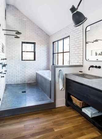80 Cool Farmhouse Tile Shower Ideas Remodel (58)