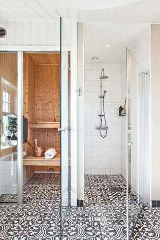 80 Cool Farmhouse Tile Shower Ideas Remodel (82)