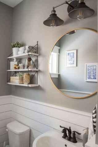 90 Awesome Lamp For Farmhouse Bathroom Lighting Ideas (128)