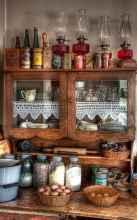 90 Best Farmhouse Kitchen Cabinet Design Ideas (16)