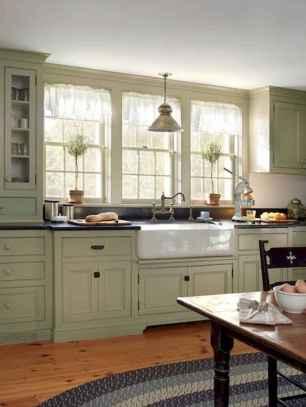 90 Best Farmhouse Kitchen Cabinet Design Ideas (72)