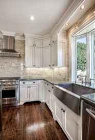 90 Best Farmhouse Kitchen Cabinet Design Ideas (78)