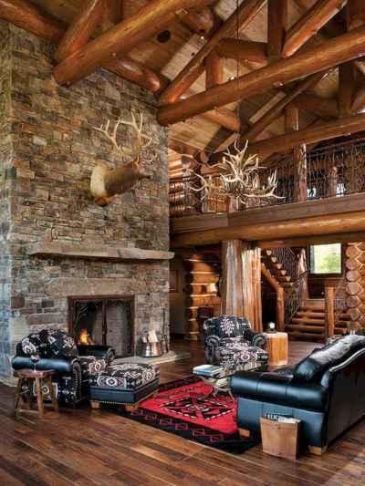 25 Cabin Living Room Ideas Decor (1)