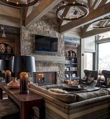 35 Chalet Living Room Decor Ideas (17)