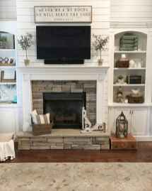40 Awesome Farmhouse Fireplace Decor Ideas and Remodel (10)
