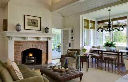 40 Awesome Farmhouse Fireplace Decor Ideas and Remodel (11)