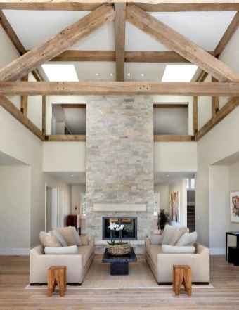 40 Awesome Farmhouse Fireplace Decor Ideas and Remodel (25)