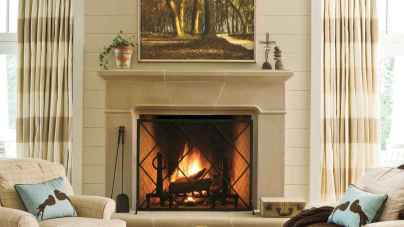 40 Awesome Farmhouse Fireplace Decor Ideas and Remodel (38)